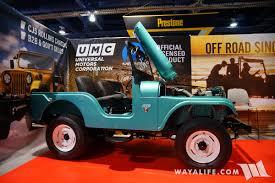offroad jeep cj 2017 sema umc universal motor company teal metallic jeep cj 5