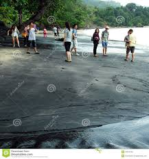 Black Sand Beaches by Black Sand Beach Langkawi Malaysia Stock Photography Image