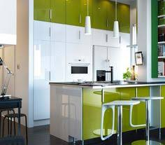 Kitchen Cabinets Green White Cabinets Lime Green Walls Med Tone Wood Dream Home Style