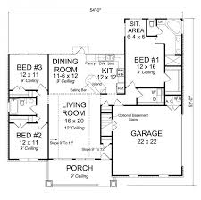Split Floor Plan 656150 3 Bedroom 2 Bath Craftsman With Master Sitting Area And