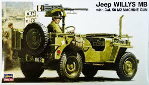 hasegawa mv2 u s jeep willys mb with cal 50 m2 machine gun 1 24