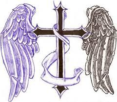 cross with wings designs wings cross tattoos