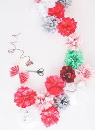 floral tissue paper flower power 21 floral inspired garlands brit co