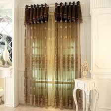 white embroidered window curtains brown sheer for bedroom are