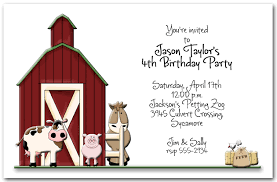 little red barn party invitations kid u0027s farm birthday invitations