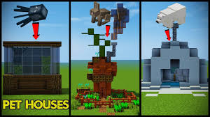 34 minecraft pet animal house designs youtube