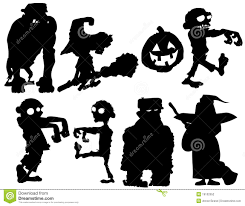 halloween pumpkin silhouette on white background royalty free