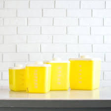 yellow canister sets kitchen yellow ceramic kitchen canisters canisters terrific yellow