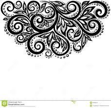 black white design black and white lace flowers and leaves isolated on white floral
