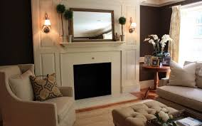 mirror decorating a fireplace mantel with mirror style surripui