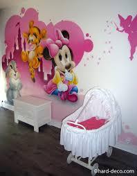 chambre fille minnie fresque chambre fille papier peint enfant minnie fresque murale