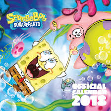 spongebob squarepants calendar 2018 calendar club uk