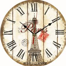 wholesale vintage wooden wall clock large shabby chic rustic