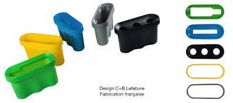 poubelle de bureau tri selectif une corbeille de bureau design compacte et communicante