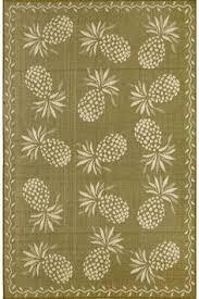 Pineapple Area Rug Indoor Outdoor Floral Pineapple Rug Hawaiian Decor Pinterest