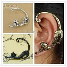 earrings cuffs 2018 ear cuffs alloy cat ear hook earrings bronze
