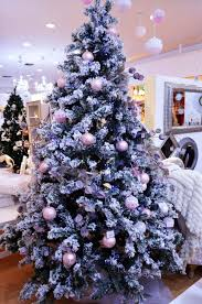christmas tree decorations blue and pink ne wall