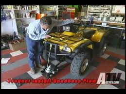 atv television quadboss atv plow installation youtube