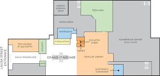 Level Floor Main Library Floor Plans Jacksonville Public Library