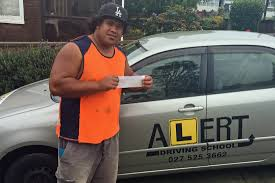 isaia passed his manual restricted driving test 1st time at wiri