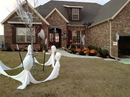 scary halloween yard displays exterior how to make your own outdoor halloween decorations