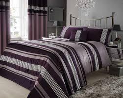 Quilted Duvet Cover King Bedroom New 23 Pc King Royal Purple Black Silver Duvet Cover Set