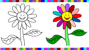 free flower coloring pages for girls flower coloring pages book