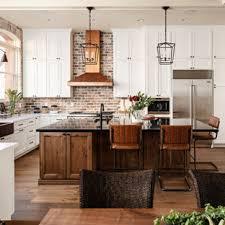 kitchen backsplash ideas with white cabinets houzz 75 beautiful green kitchen with brown backsplash pictures