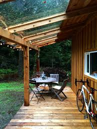 covered deck and bike storage for now keva tiny house