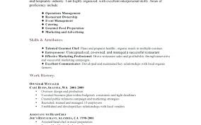 fast food restaurant resume skills u2013 inssite