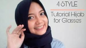 tutorial hijab persegi berkacamata 4 style tutorial hijab for glasses tutorial hijab pashmina simple