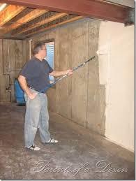 basement concrete wall ideas painting concrete basement walls