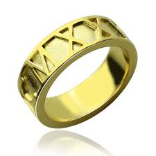 numeral ring 18k gold plated numeral date rings