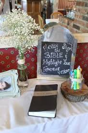 baby dedication christening baptism decor bible guest book