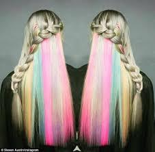 women show hidden u0027secret rainbow u0027 hair colour social