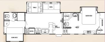 Thor Fifth Wheel Floor Plans by Rv With Bunk Beds Floor Plans 2 Bedroom Fifth Wheel Floor Plans