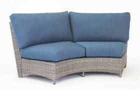 south sea rattan st tropez curved loveseat with cushion u0026 reviews