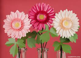 Ideas For Gerbera Flowers How To Make A Bouquet Of Paper Daisies