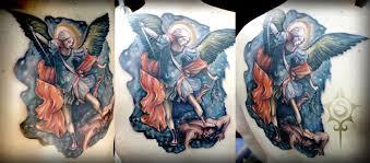 saint michael tattoo by illogan on deviantart