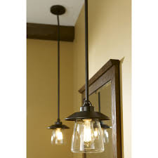 bronze kitchen light fixtures shop allen roth bristow 6 87 in w mission bronze mini pendant