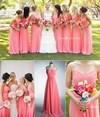 bridesmaid dresses coral key color for bridesmaid dresses 2014 coral coral bridesmaid
