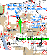 Wisconsin Snowmobile Trails Map by December 2013 Bergland Bay Bar