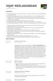Oracle Pl Sql Developer Resume Sample by Application Developer Resume Samples Visualcv Resume Samples