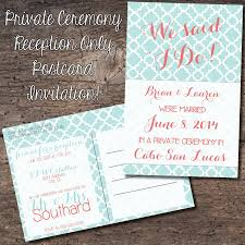 sle wedding announcements 4x6 postcard reception only invitation eloped reception only