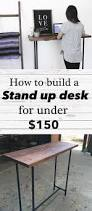 Under Desk Printer Stand Wood by Easy Diy Pipe Stand Up Desk Cost 150 Approx Industrial