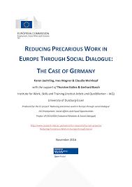 reducing precarious work in europe through social dialogue the