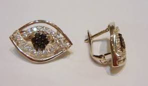 clip on earrings uk sapphire 14ct white gold and cubic zirconia stud clip earrings e3155