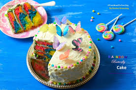 Rainbow Butterfly Cake With Cloud Buttercream Frosting Easy And