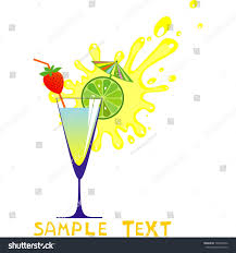 mixed drink clipart cocktail drink silhouette isolated on white stock illustration