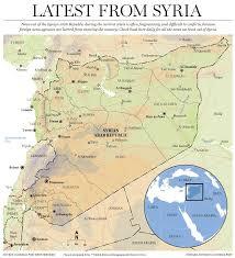 Damascus Syria Map by Syria World News National Post